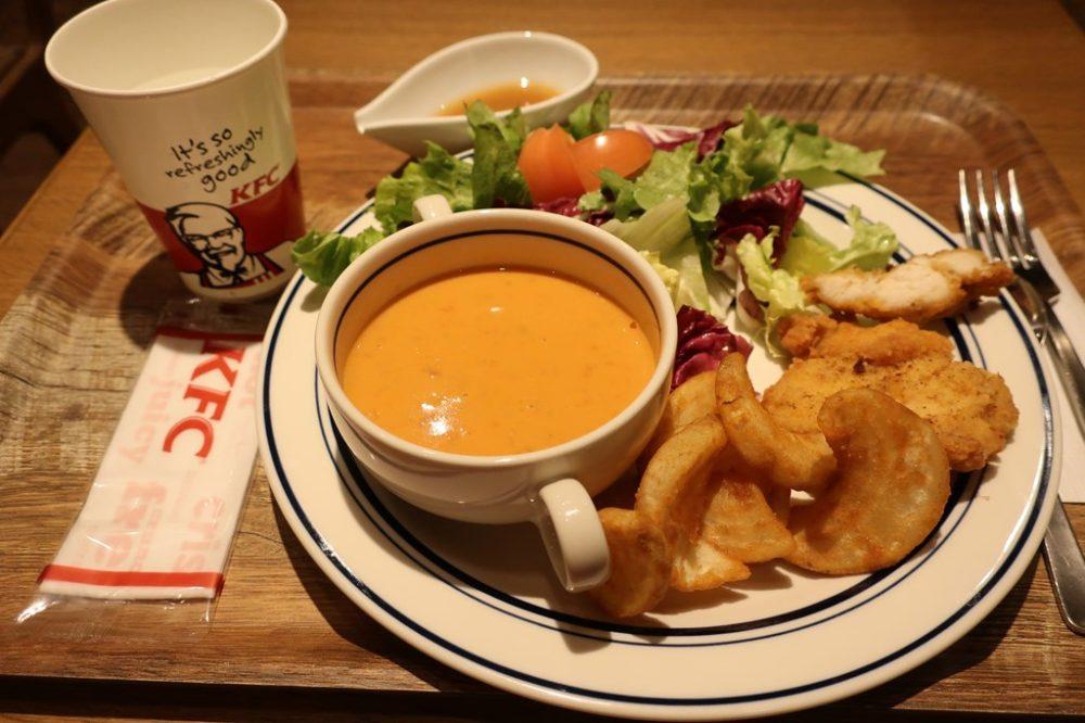 ケンタッキーカフェ 武蔵境 モーニング 夕食 ケンタッキー カフェ
