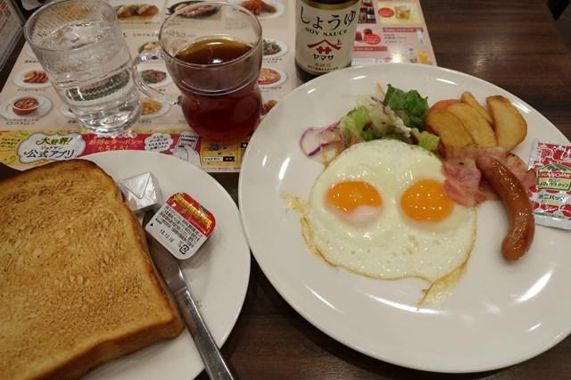 三鷹駅北口モーニング ジョナサン武蔵野西久保店