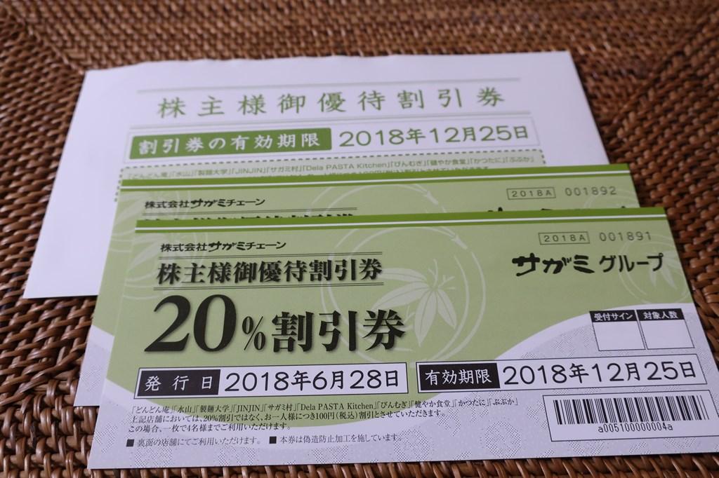 サガミチェーン 3月 株主優待