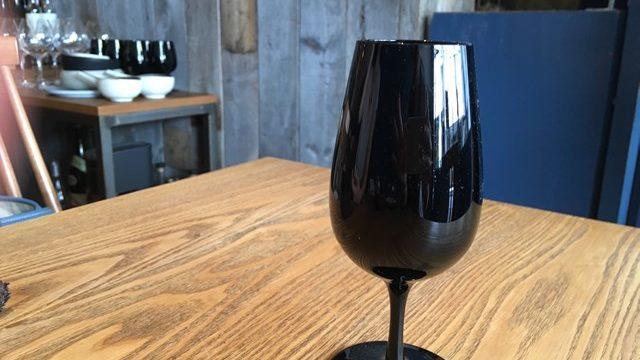黒いワイングラス テイスティンググラス
